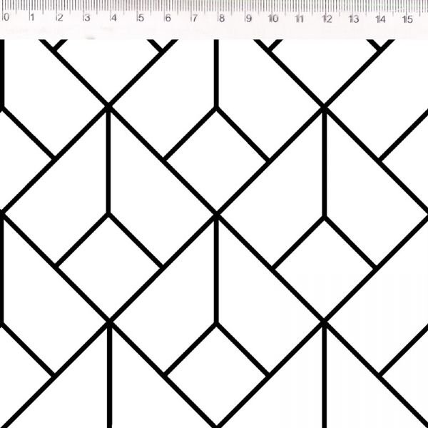 Tecido Geométrico Dado P/B 30626C01