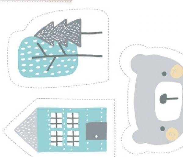Tecido Painel Urso cinza ES026C02