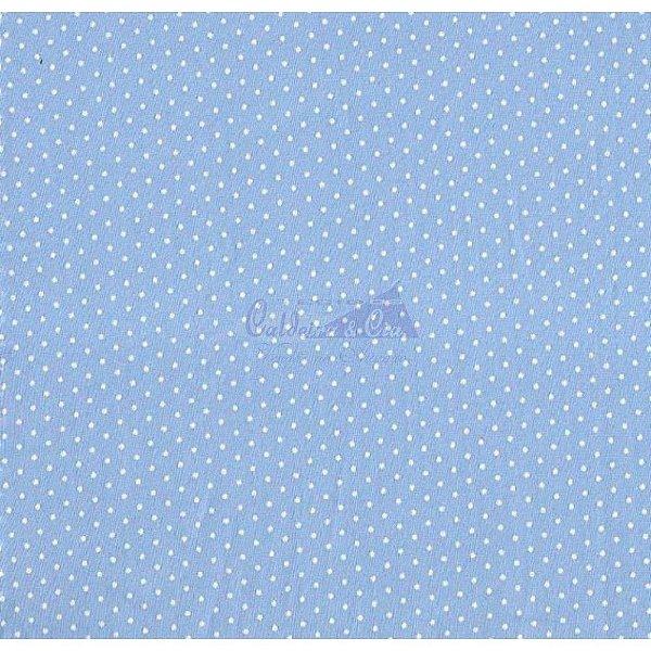 Tecido Poá pequeno azul claro com branco (Cor 03)