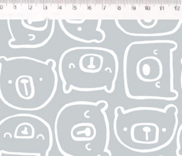 Tecido Urso cinza ES024C02
