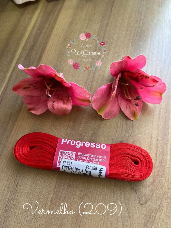 Fita de Cetim 7 mm Vermelho (209)