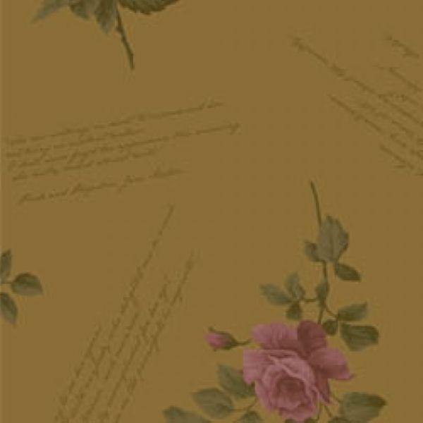 Tecido Floral Escrito La Vie en Rose Bege (MV002C02)