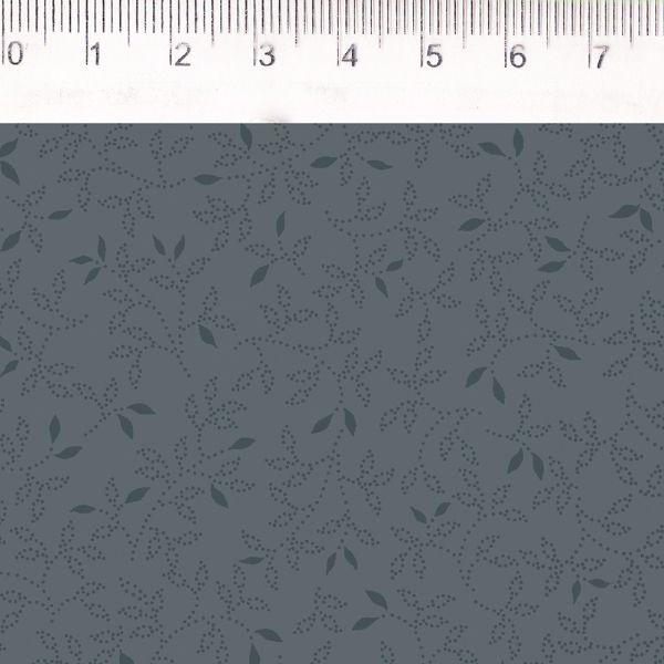 Tecido Folhinhas Azul MV029C01