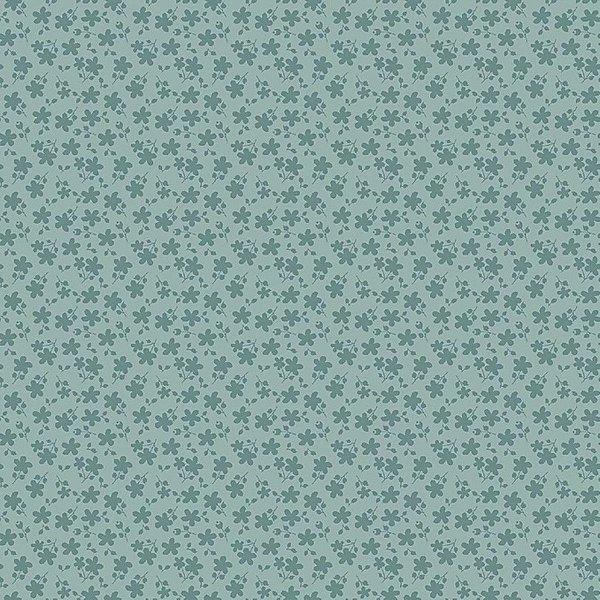 Tecido Básico Floral Azul RT337