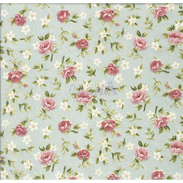 Tecido Floral Lúcia Verde Seco (Cor 02)
