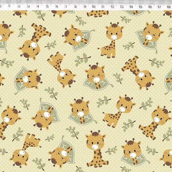 Tecido Delicata Girafa amarela 30678C03
