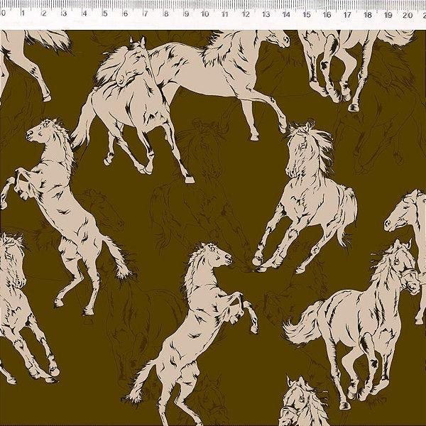 Coleção Haras - Cavalo fundo marrom 30648C02