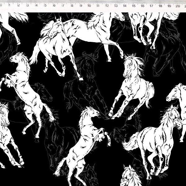 Coleção Haras - Cavalo fundo preto 30648C01