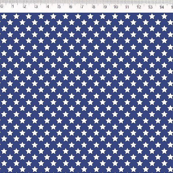 Tecido Estrela Menor Azul VG048C01