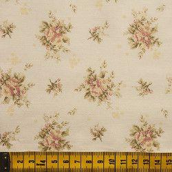 Tecido Floral Rosas e Ramos 51072C03
