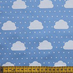 Tecido Nuvens com Poás Azuis 30582C02