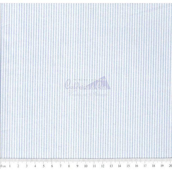 Tecido Listras Finas Azul Claro (D. Juan)