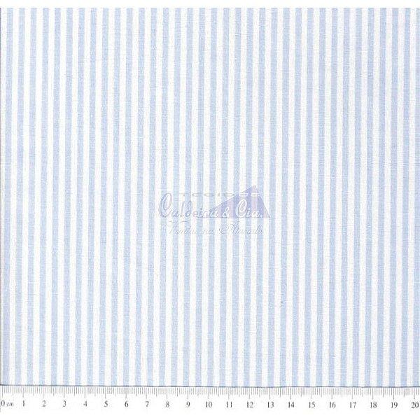 Tecido Listras Médias Azul Claro (L227)