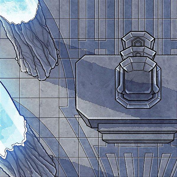 Mapa de RPG - Hall de Cristais