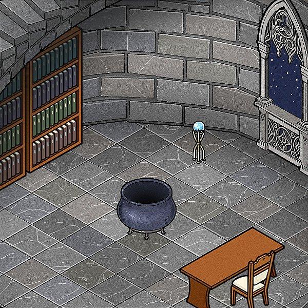 Mapa de RPG Isométrico - Sala da Torre do Mago