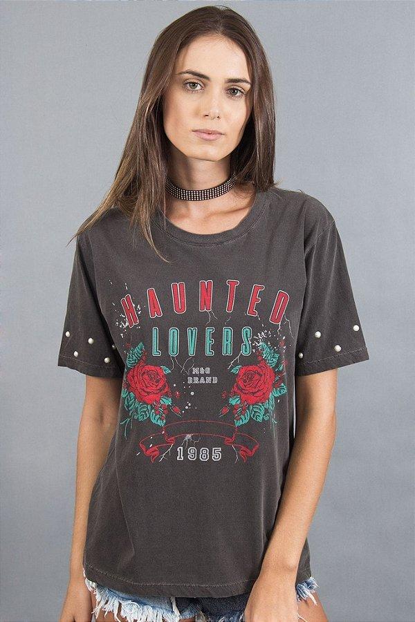 T shirt com Pérolas - Haunted Lovers