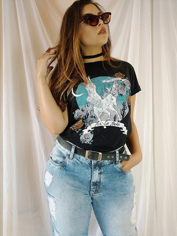 T shirt Preta - Free To Love