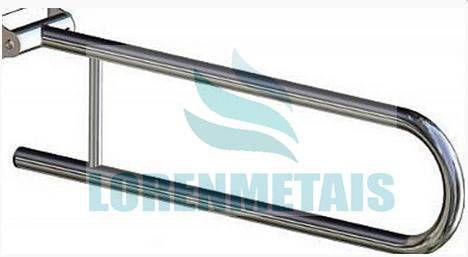 Barra de Apoio Articulada para Banheiro 60cm de Parede - 1026