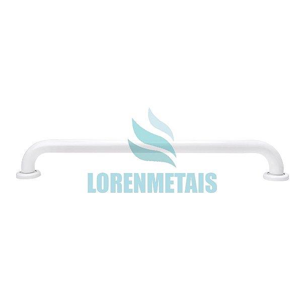 Barra De Apoio Para Banheiro Em Aluminio Reta Branca 80 cm - 24015
