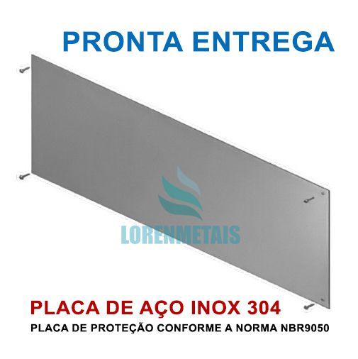 Placa de proteção ou chapa de impacto para porta inox PNE 90 Cm - 1032