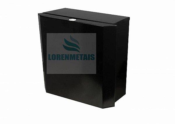 Dispenser de Papel Toalha Preto em Aço Interfolhas com Trava - 17009