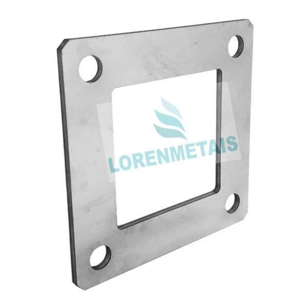 Flange quadrado inox laminado 304 40X40 - 7006