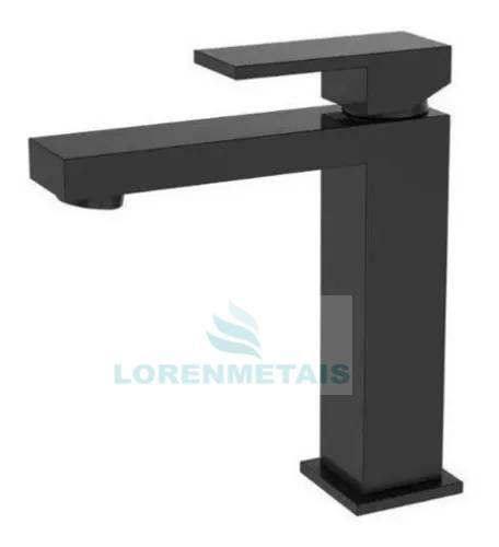 Torneira Monocomando Banheiro quadrada baixa preto fosco - 9023