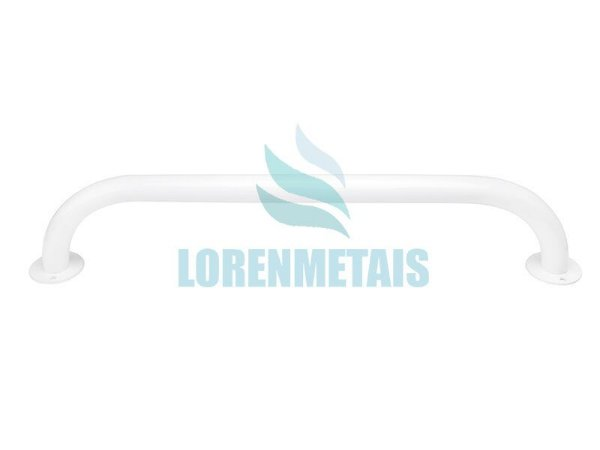 Barra de apoio para banheiro em inox 304 reta 90 cm branca - 1039