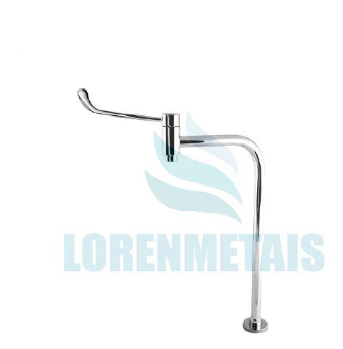 Torneira Hospitalar Clínica Metal Link 23,7 cm Alavanca Reforçada Mesa 90° - 12048