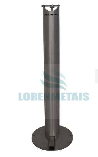 Saboneteira Aço carbono Pedestal - 13018