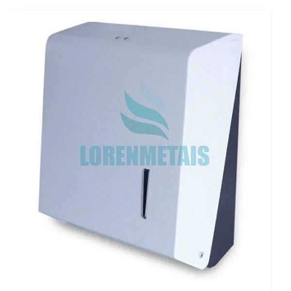 Dispenser de Papel Toalha Inox branco Interfolhas Sem Porta Cadedado - 20004