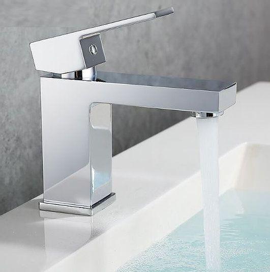 Torneira Monocomando Quadrada Para Banheiro Luxo