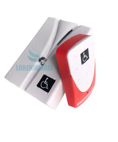 Alarme banheiro deficiente PNE audiovisual sem fio - 1112 - lorenmetais