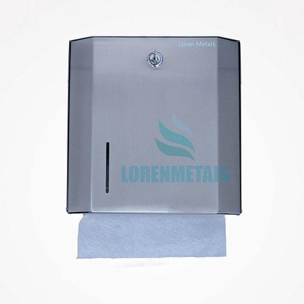 Dispensador de Papel Toalha Interfolhas Inox com Chave - 10008