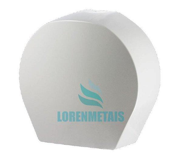 Dispensador de papel toalhas rolão abs branco - 8011