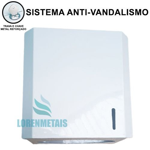 Toalheiro Interfolhas LorenMetais De Metal Branco - 12178