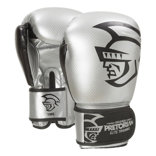 LUVA DE BOXE/MUAY THAI PRETORIAN ELITE TRAINING SILVER