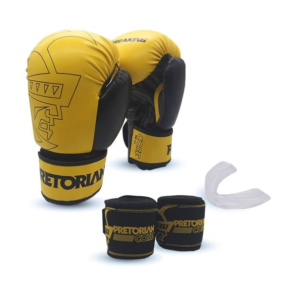KIT BOXE/MUAY THAI PRETORIAN CORE AMARELO