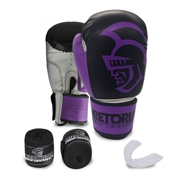 KIT BOXE/MUAY THAI PRETORIAN PERFORMANCE ROXA