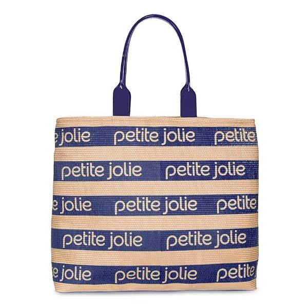 Bolsa Petite Jolie Summer PJ4724 Natural/Azul