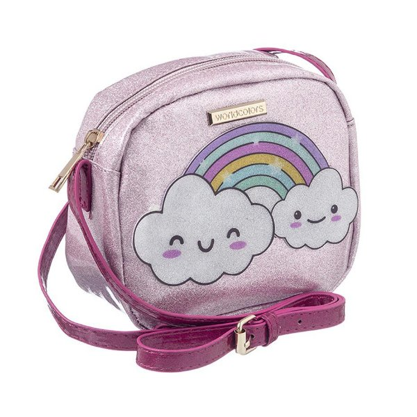 Bolsa Infantil World Colors Arco-íris Rosa