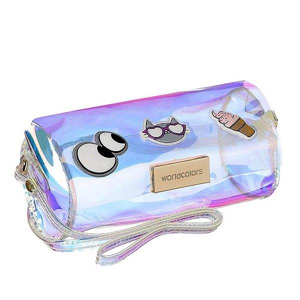 Bolsa Infantil World Colors 63061 Holografico Transparente