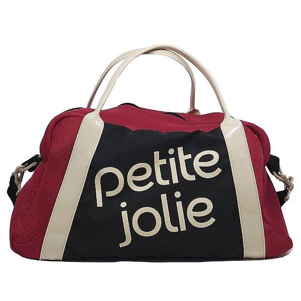 Mala Petite Jolie Marci PJ4684 Preto e Vermelho
