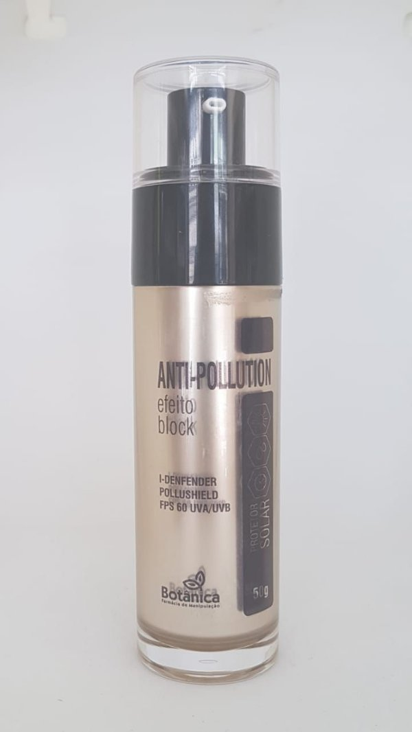 Creme anti-pollution Efeito Block FPS 60 UVA/UVB com I-Defender e Pollushield