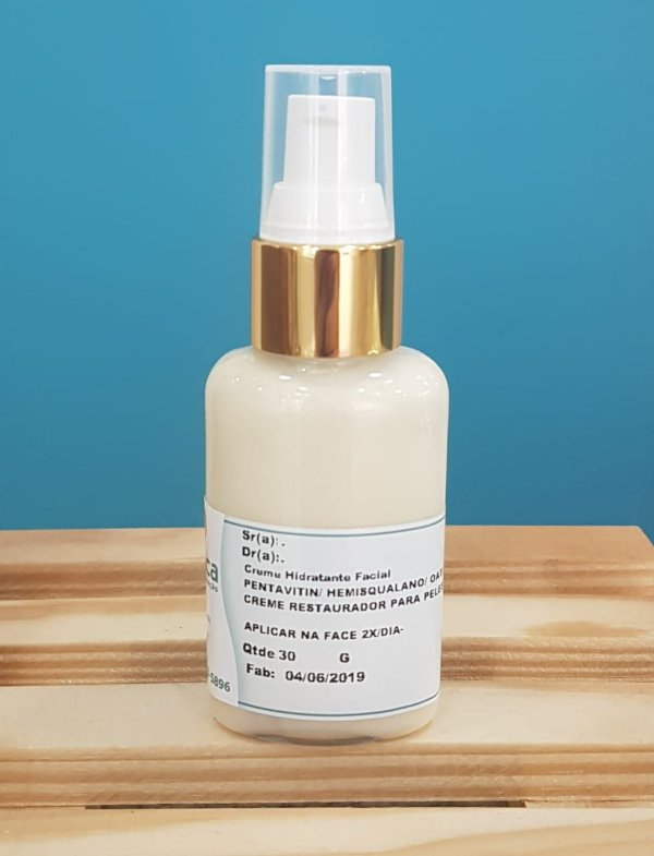 Hidratante facial para pele sensível com fucogel, pentavitin, hemiesqualano, oat lipid