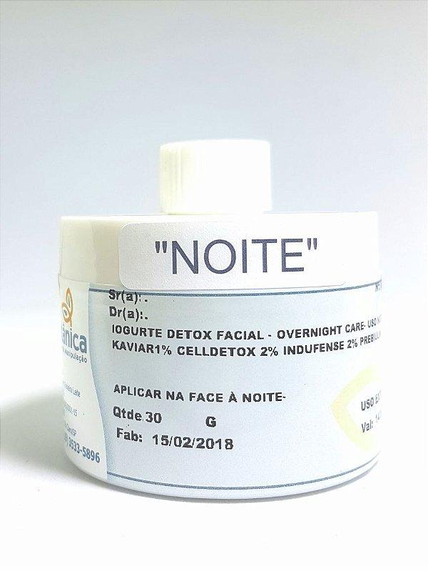 Iogurte Detox Facial - overnight care (uso à noite)