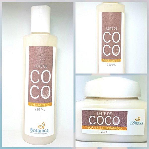 Kit Tratamento Capilar Leite de Coco
