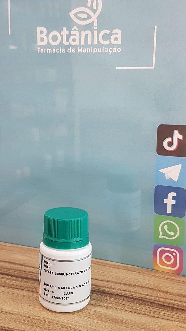 Fitase 3000ui + Citrato de Zinco 50mg - Aumenta Eficácia do Botox 10 caps
