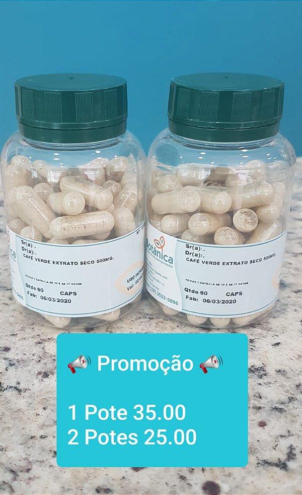 Café verde extrato seco (Green coffee) 500mg 60cps - 2 potes