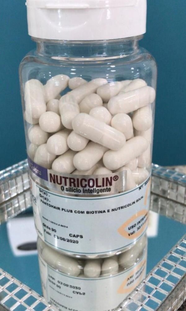 Pantohair Plus com Nutricolin 90cápsulas